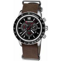 Mens Wenger Roadster black night Chronograph Watch 0