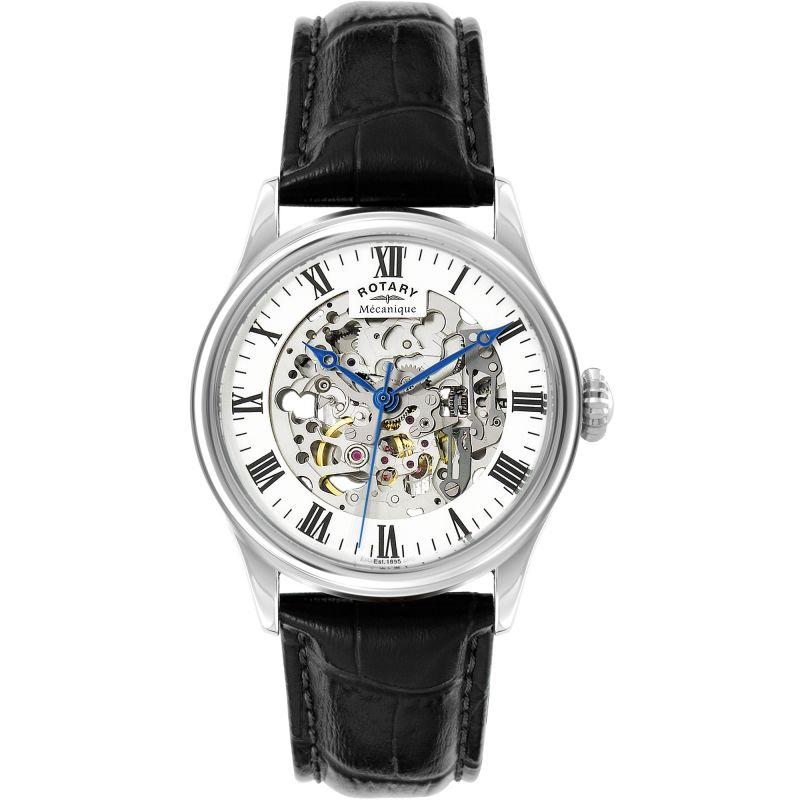 Herren Rotary Vintage Mecanique Skeleton Watch GS02940/06