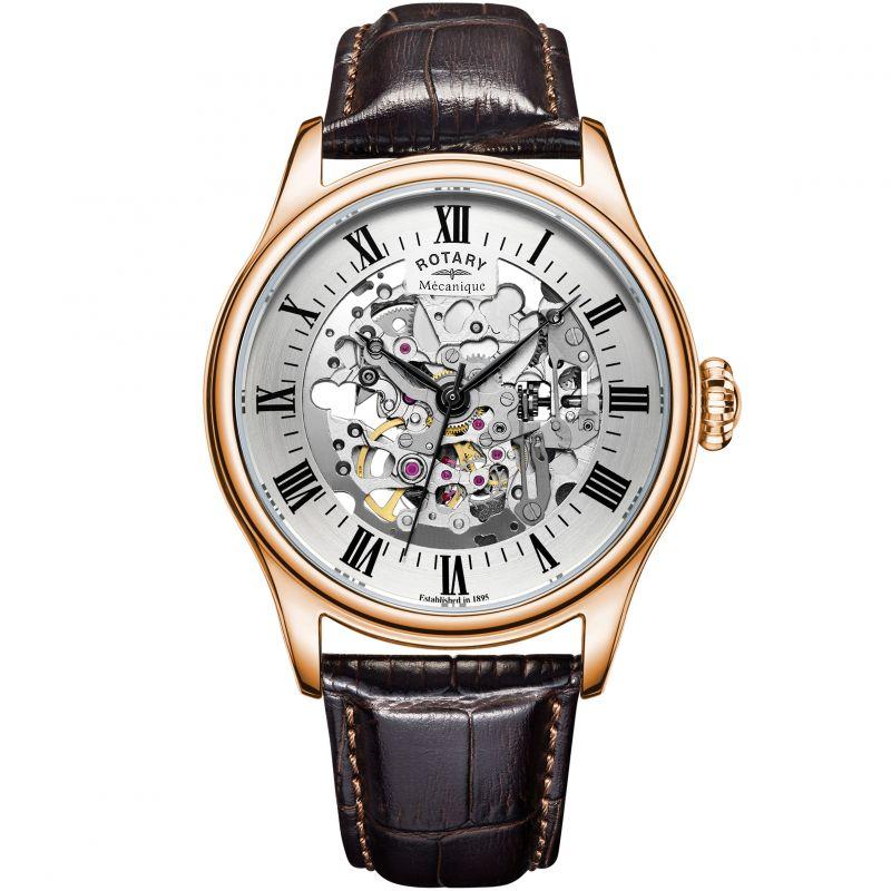 Herren Rotary Vintage Mecanique Skeleton Watch GS02942/01