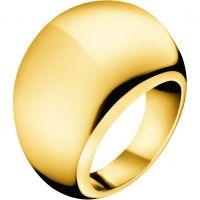 Damen Calvin Klein PVD Gold überzogen Größe L.5 Closed Ring