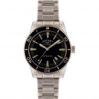 Herren Rotary Exklusives Vintage Tauchen Automatik Uhr