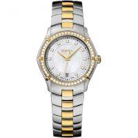 Damen Ebel Sport Diamant Uhr