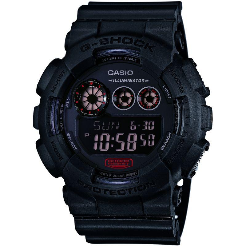 Herren Casio G-Shock Military Black Alarm Chronograph Watch GD-120MB-1ER