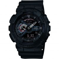 homme Casio G-Shock Military Black Alarm Chronograph Watch GA-110MB-1AER