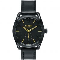 Nixon The C39 Leather Unisexklocka Svart A459-010