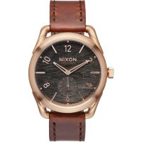 Nixon The C39 Leather Unisexklocka Brun A459-1890