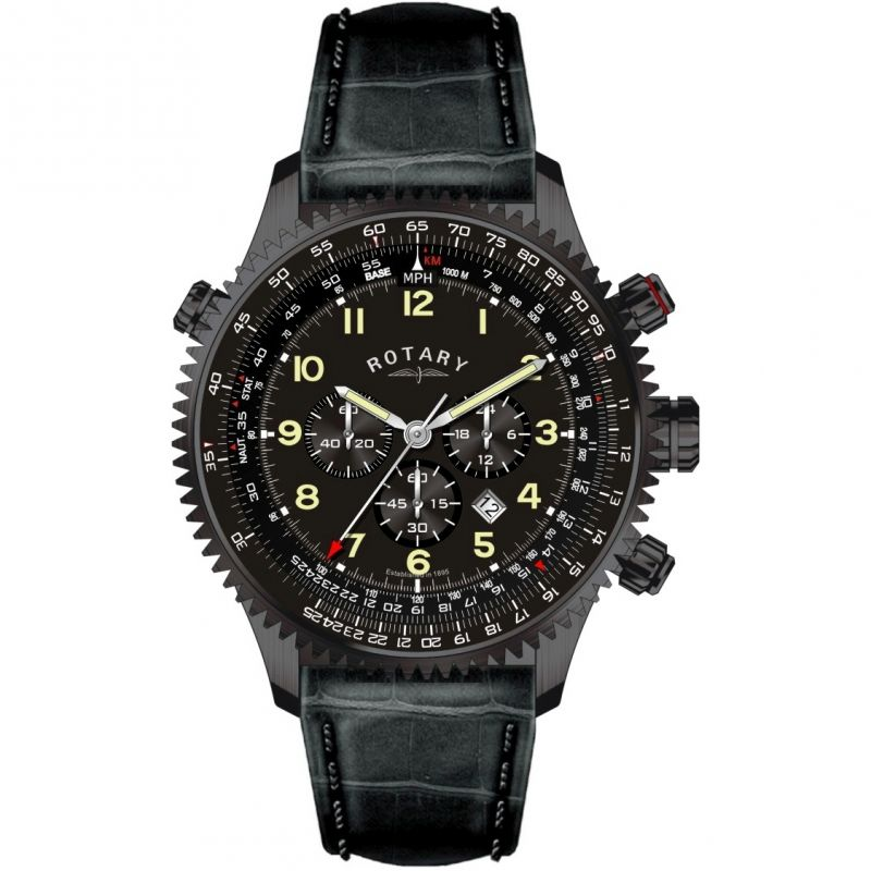 Mens Rotary Chronograph Watch GS00122/04