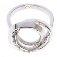 Ladies Karen Millen PVD Silver Plated Ring Medium