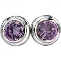Fiorelli Dam & Amethyst Earrings Sterlingsilver E4870M