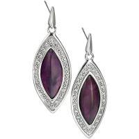 Ladies Fiorelli Sterling Silver & Amethyst Earrings E5003M