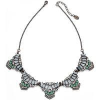Damen Fiorelli Schwarz ionenbeschichteter Stahl Halskette