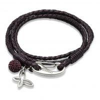 Damen Unique Edelstahl Leder Armband