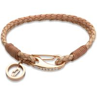Ladies Unique PVD rose plating Leather Bracelet B255NA/19CM