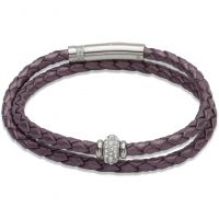 Biżuteria damska Unique & Co Leather Bracelet B268BE/19CM