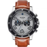Herren Nixon The Ranger Leder Chronograf Uhr