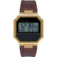 Nixon The Re-Run Leather Unisexklocka Brun A944-849