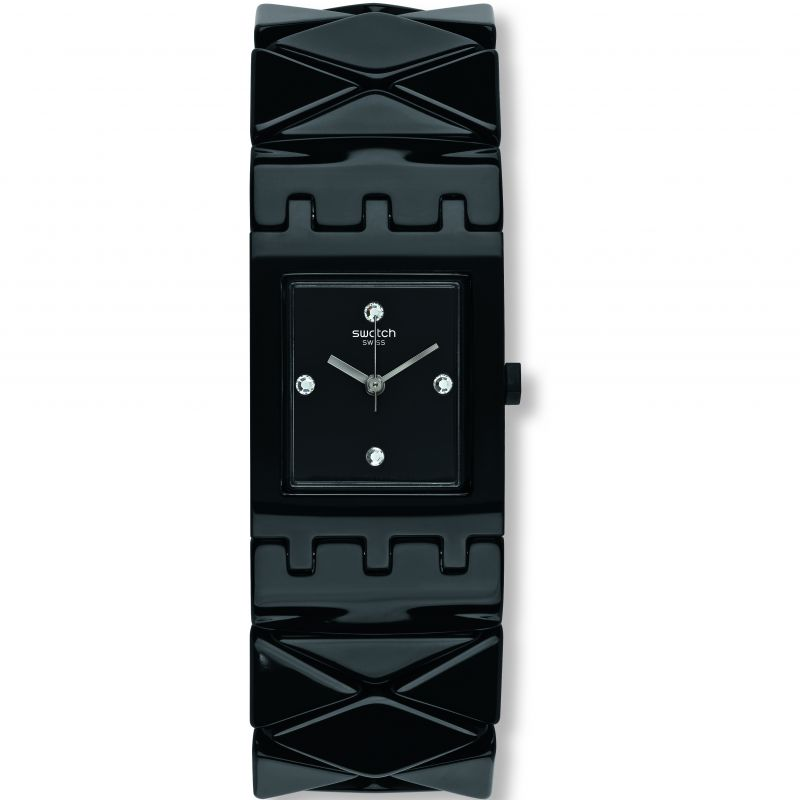 Ladies Swatch Original Square Watch SUBB127B