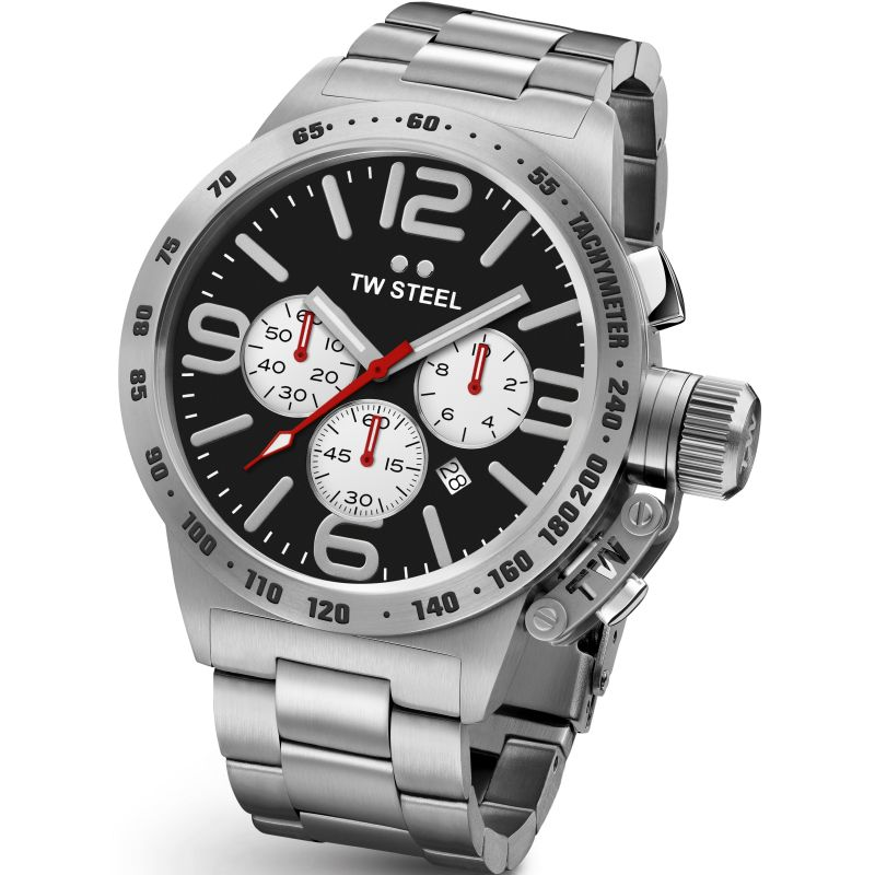 Mens TW Steel Canteen Chronograph 45mm Watch CB0003