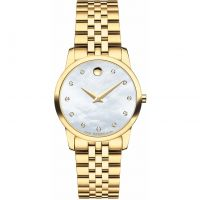 Damen Movado Museum Classic Diamond Watch 0606998