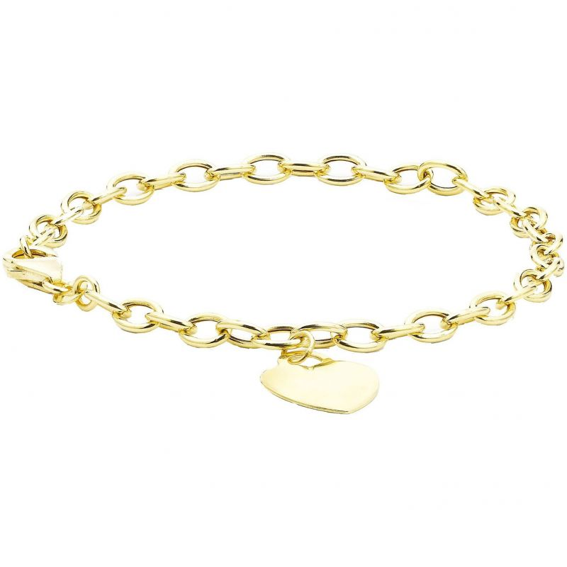 Ladies Essentials 9ct Gold Heart Bracelet AJ-11040310