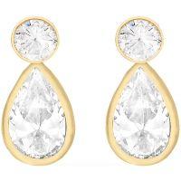 Damen Essentials 9ct Gold würfelförmig Zirconia TearEarrings