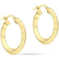 Damen Essentials 9ct Gold Kreolen Ohrringe