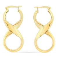 Ladies Essentials 9ct Gold Figure Eight Earrings