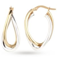 Ladies Essentials 9ct Gold Double Twist Hoop Earrings