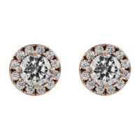 femme Jewellery Essentials Cubic Zirconia Halo Studs Watch AJ-15040172