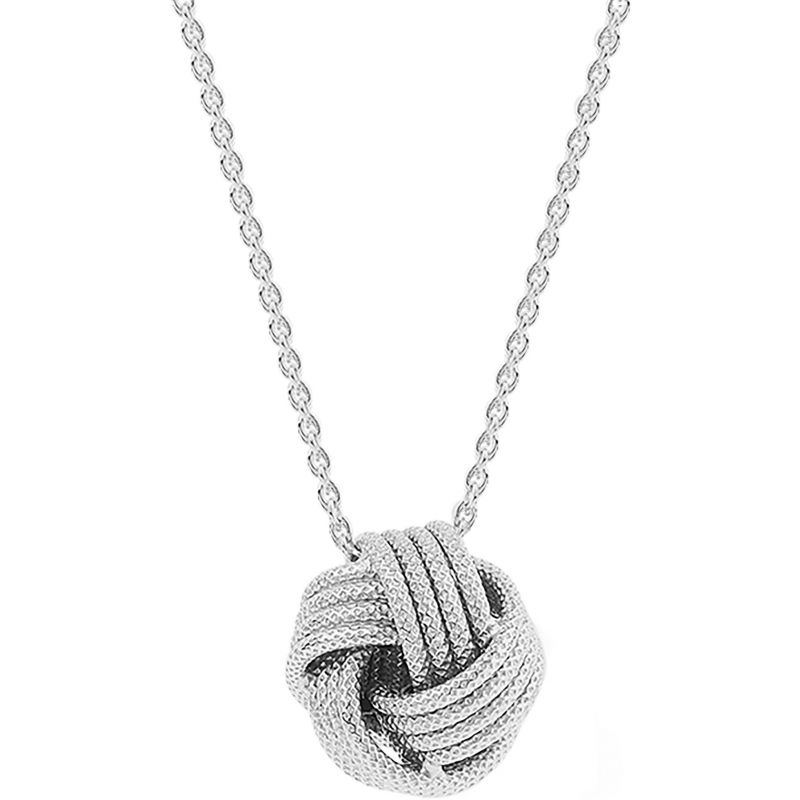 Ladies Essentials Sterling Silver Frosted Love Knot Pendant AJ-37230872