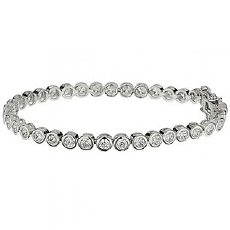 Ladies Essentials Sterling Silver Cubic Zirconia Bracelet AJ-37230017