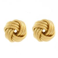 Jewellery Essentials Gold Plated Frost Love Knot Earrings JEWEL