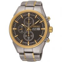 Herren Seiko Titan Chronograf solarbetrieben Uhr