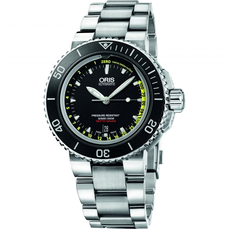 Mens Oris Aquis Depth Gauge Set Automatic Watch 0173376754154-SET