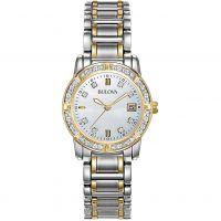 Damen Bulova Diamond Gallery Diamond Watch 98W107