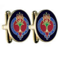Mens Smart Turnout Cufflinks PVD Gold plated Military WG/40-TB