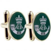 Mens Smart Turnout Cufflinks PVD Gold plated Military