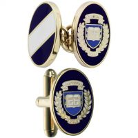 Mens Smart Turnout Cufflinks PVD Gold plated University YALE/40-TB