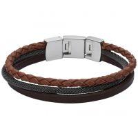 homme Fossil Jewellery Leather Bracelet Watch JF02213040