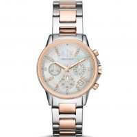 Armani Exchange Dameschronograaf Tweetonig AX4331