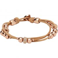 Damen Fossil PVD Rosa plating ICONIC BRACELET