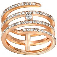 Ladies Swarovski PVD rose plating CREATIVITY RING SIZE N 5191923