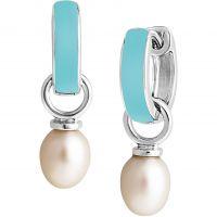 Damen Jersey Perle Sterlingsilber Viva Freshwater Perle Licht Blau Ohrringe