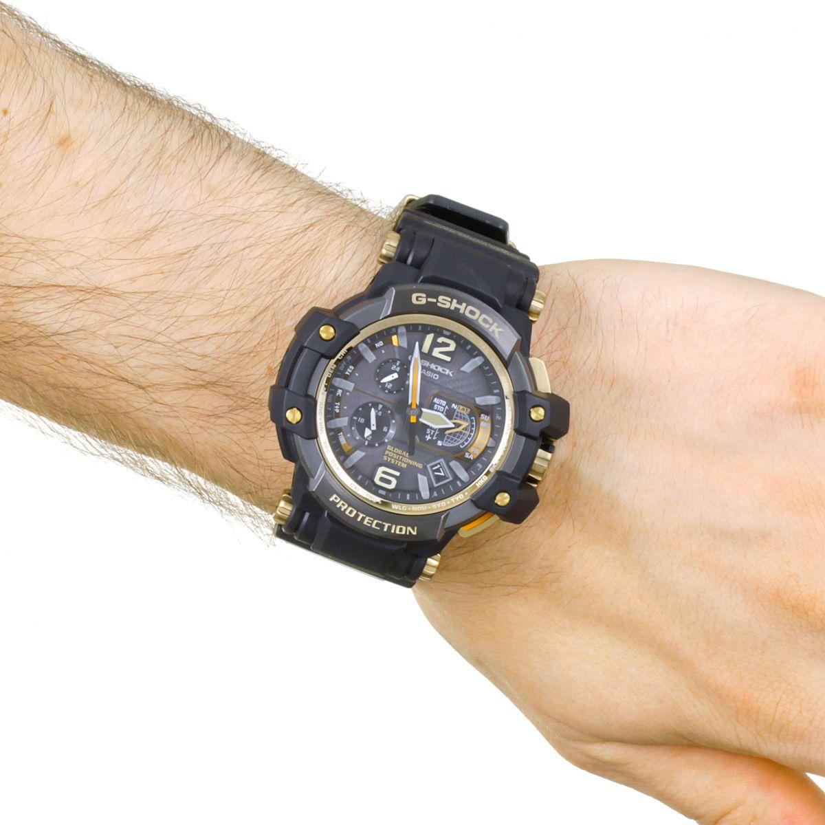 Montre Casio Couleur Or pour hommes casio g-shock premium gravitymaster noir x or alarme