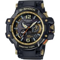 Herren Casio G-Shock Premium Gravitymaster Black x Gold Alarm Chronograph Radio Controlled Watch GPW-1000GB-1AER