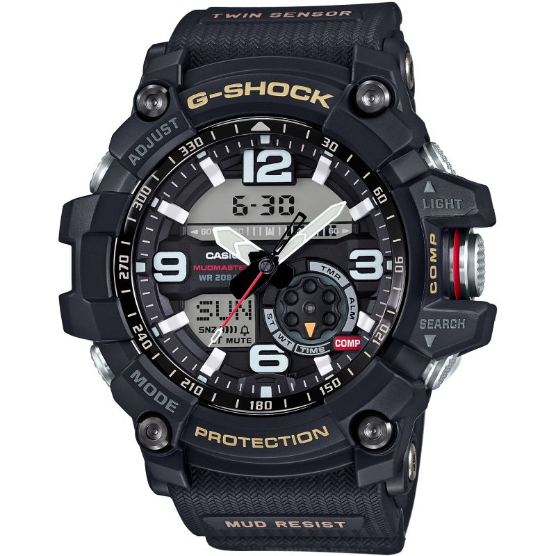 Mens Casio Premium G-Shock Mudmaster Twin Sensor Compass Alarm Chronograph Watch GG-1000-1AER