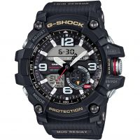 Mens Casio Premium G-Shock Mudmaster Twin Sensor Compass Alarm Chronograph Watch