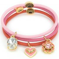 Ladies Juicy Couture PVD Gold plated Charmy Elastics Hair Elastics WJW752-673