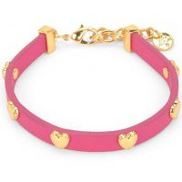 Damen Juicy Couture PVD Gold überzogen Layered In Couture Herz Leder Armband