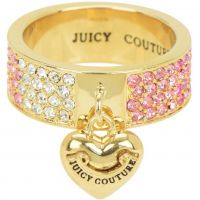 Juicy Couture Dames Iconic Gradient Pave Heart Ring PVD verguld Goud WJW732-654-8